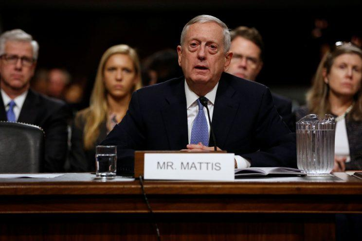 Retired U.S. Marine Corps General James Mattis testifies before a Senate Armed Services Committee hearing. (Photo: Jonathan Ernst/Reuters)