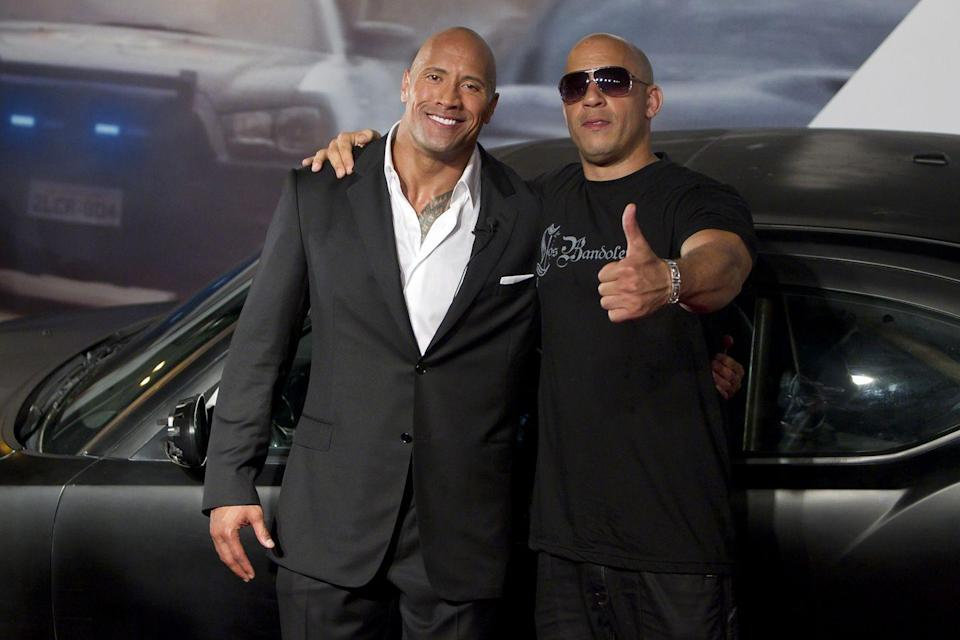 """<p>By 2017, the beef between the two stars seemed to have cooled down, with Vin Diesel addressing his relationship with Dwayne in an interview with <em><a href=""""https://www.usatoday.com/story/life/entertainthis/2017/04/07/fate-furious-vin-diesel-talks-dwayne-johnson-rock-feud/100108476/?hootPostID=0f01fbc61223b5b852419a3fcc647cbd"""" rel=""""nofollow noopener"""" target=""""_blank"""" data-ylk=""""slk:USA Today"""" class=""""link rapid-noclick-resp"""">USA Today</a></em>. """"I don't think the world really realizes how close we are, in a weird way,"""" he said. """"I think some things may be blown out of proportion. I don't think that was his intention. I know he appreciates how much I work this franchise. In my house, he's Uncle Dwayne.""""</p>"""