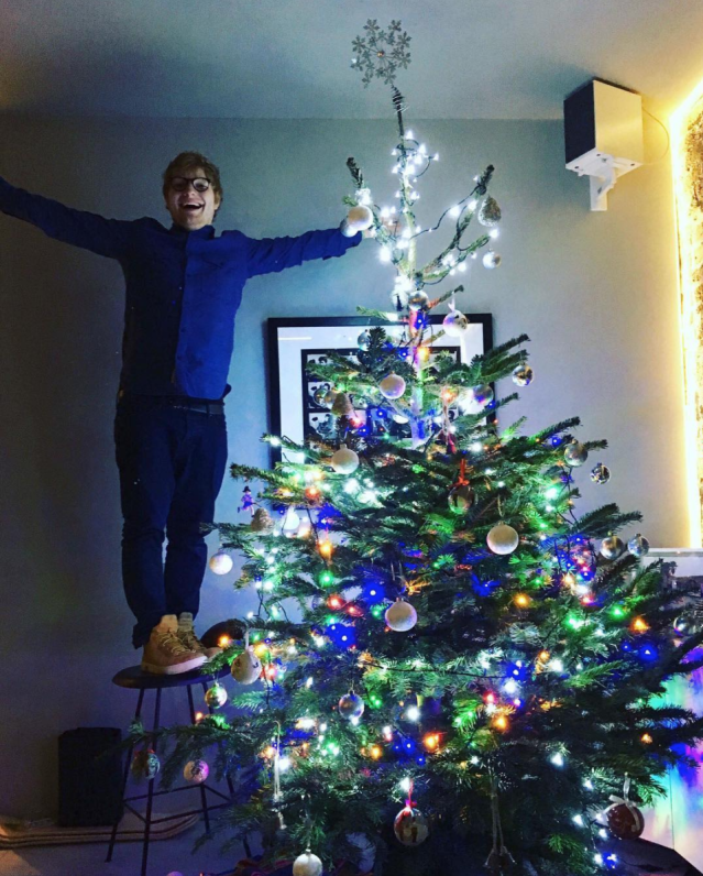 "<p>Sheeran was super proud of his colorful creation. Can't you tell? (Photo: <a href=""https://www.instagram.com/p/BcW_foIlUnq/?taken-by=teddysphotos"" rel=""nofollow noopener"" target=""_blank"" data-ylk=""slk:Ed Sheeran via Instagram"" class=""link rapid-noclick-resp"">Ed Sheeran via Instagram</a>) </p>"