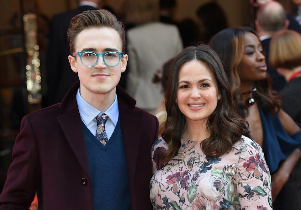 Tom Fletcher and Giovanna Fletcher attending the Prince's Trust Celebrate Success Awards 2017, held at the London Palladium, London.  Picture date Wednesday March 15, 2017. Picture credit should read Doug Peters/ EMPICS Entertainment
