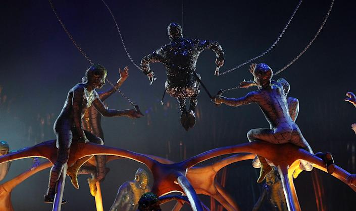 LONDON, ENGLAND - JANUARY 04: Artists from Cirque Du Soleil: Totem perform at Royal Albert Hall on January 4, 2012 in London, England. (Photo by Danny Martindale/Getty Images) *** BESTPIX ***