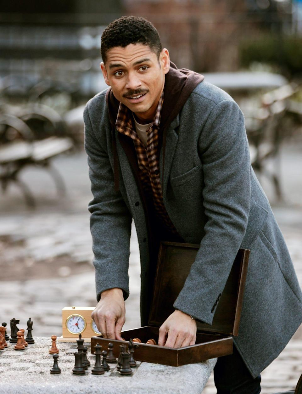 <p>Charlie Barnett shoots a chess scene for Natasha Lyonne's<em> Russian Doll</em> on Wednesday in N.Y.C.</p>