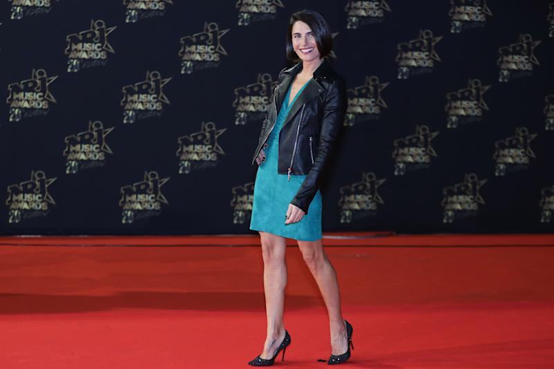 French radio and TV host Alessandra Sublet poses on the red carpet upon her arrival to attend the 20th NRJ Music Awards ceremony at the Palais des Festivals, in Cannes, southeastern France, on November 10, 2018. (Photo by Valery HACHE / AFP) (Photo credit should read VALERY HACHE/AFP via Getty Images)