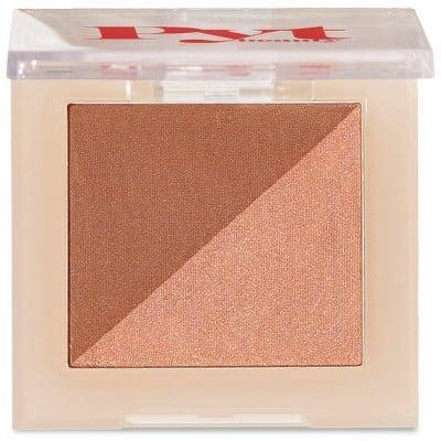 <p>Grab the <span>PYT Beauty Faux Sun Bronzer Duo</span> ($20) next time you're at Target. The bronzer has a matte and a shimmery side so you can customize the finish. </p>
