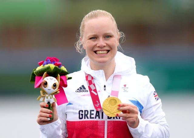 Great Britain's Laura Sugar also won canoeing gold on Saturday