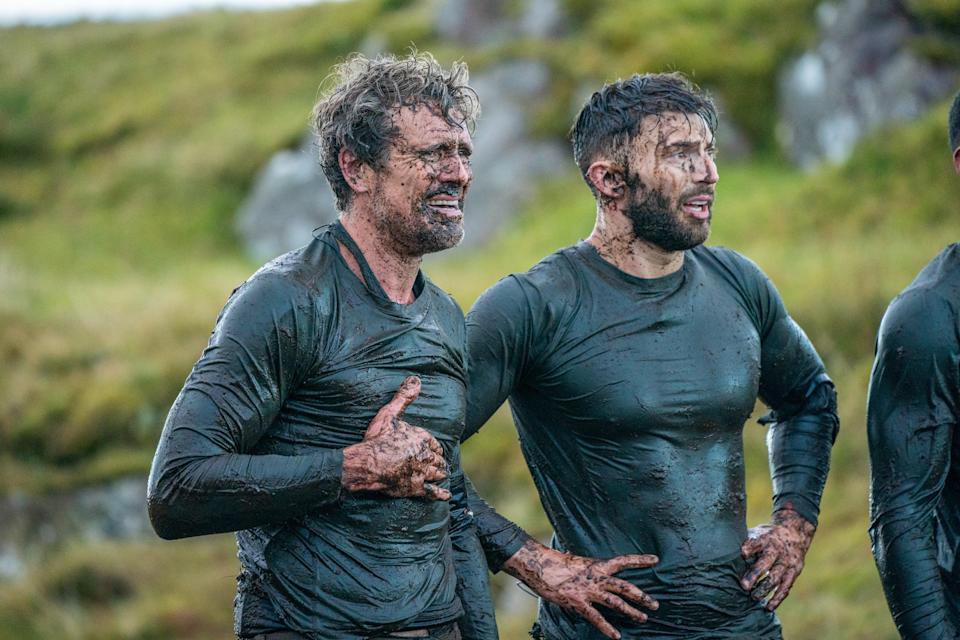 Jake Quickenden with James Cracknell in the show (Channel 4)