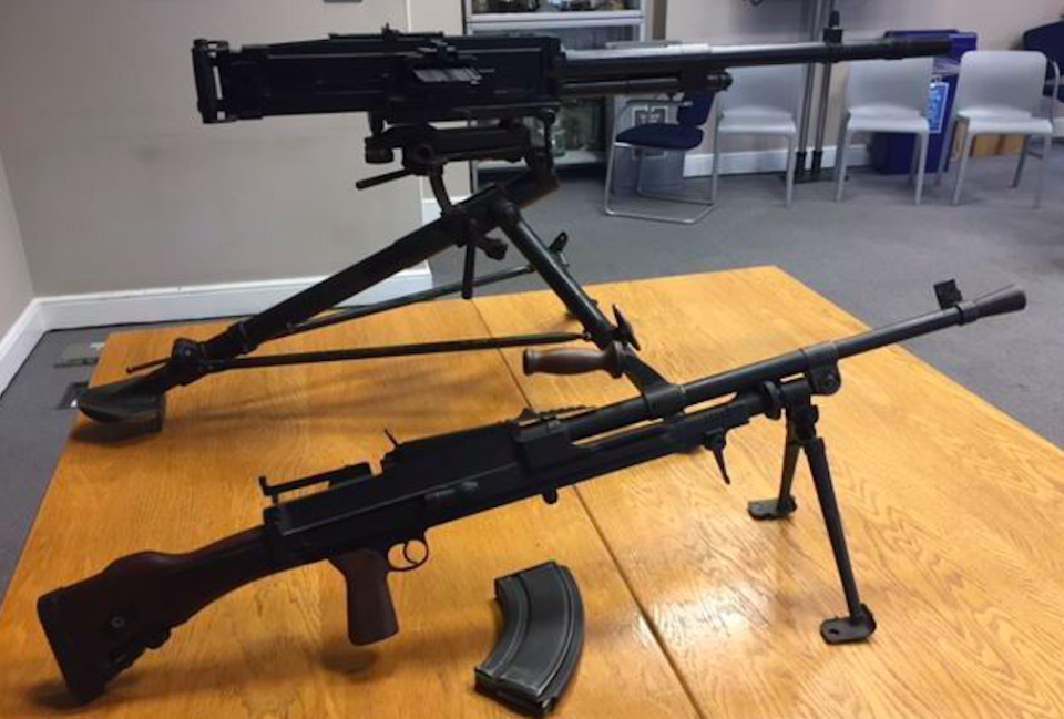 <em>The two deactivated machine guns were among 140 firearms handed in to police (PA)</em>