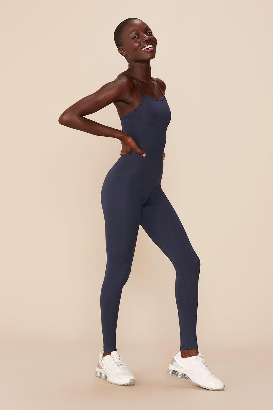 """<p>""""I plan on lounging around in my apartment wearing this great (read: lazy) <span>Girlfriend Midnight Unitard</span> ($88) all fall long."""" - LP</p>"""