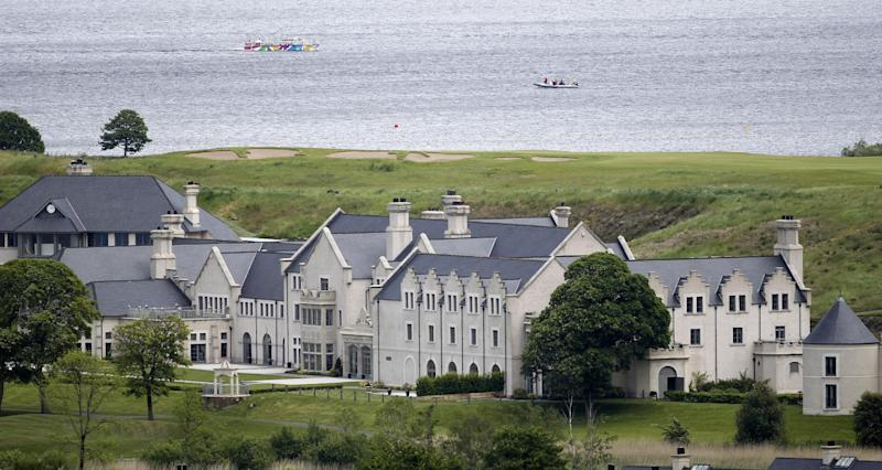 The Lough Erne Golf Resort Enniskillen, Northern Ireland, Thursday, June 13, 2013. The Resort which is surrounded by water is due to host the G8 summit on the 17th and 18th June. (AP Photo/Peter Morrison)