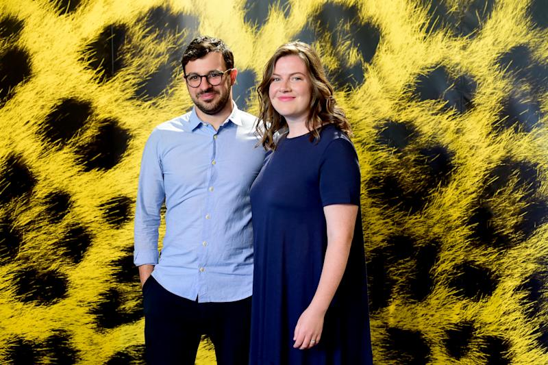 Simon Bird and Lisa Owens attend 'Days of the Bagnold Summer' during the 72nd Locarno Film Festival on August 14, 2019. (Photo by Pier Marco Tacca/Getty Images)
