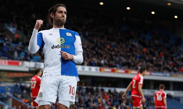 Soccer Football - FA Cup Second Round - Blackburn Rovers vs Crewe Alexandra - Ewood Park, Blackburn, Britain - December 3, 2017 Danny Graham celebrates after he scores Blackburn's second goal Action Images/Carl Recine