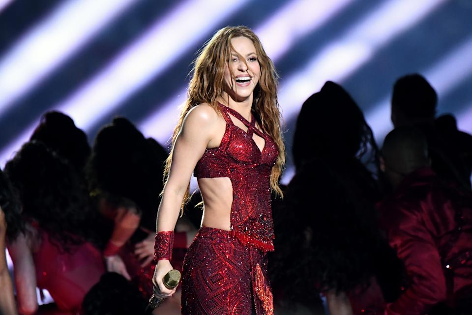 Shakira became the Super Bowl's most meme-able moment. Now, people are clarifying what her tongue wagging was really about. (Photo: Getty Images)