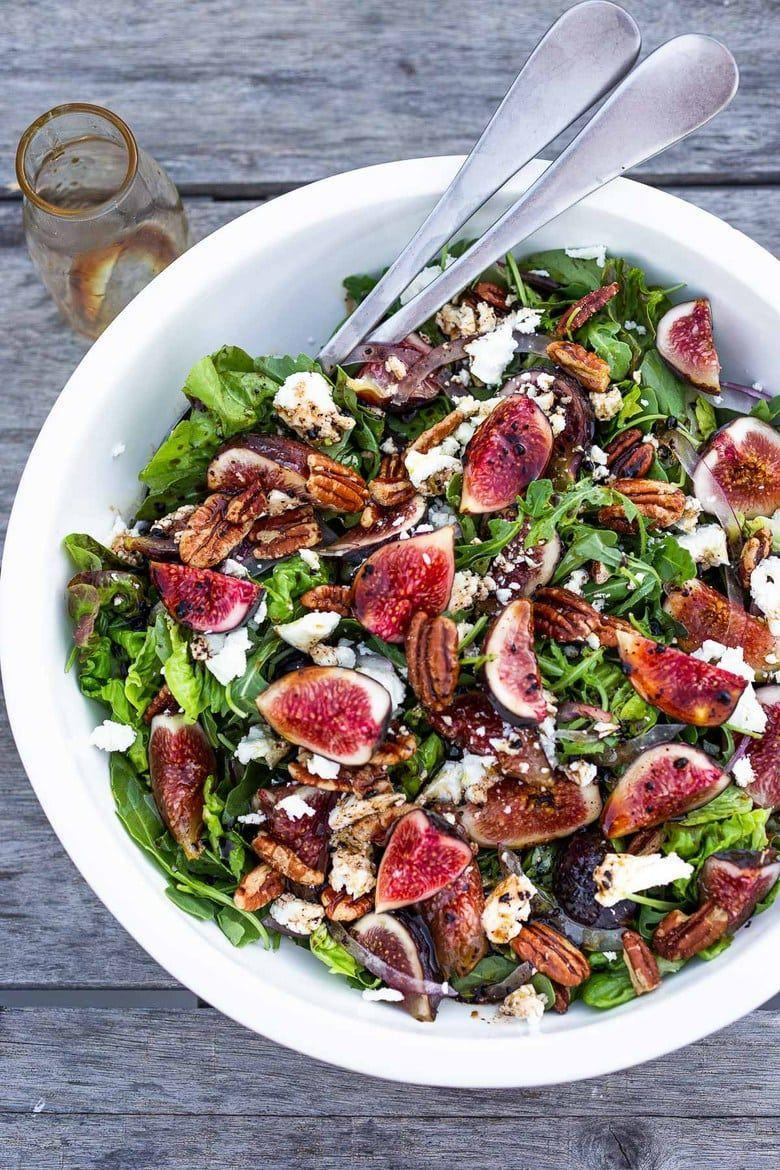 """<p>Figs and pecans are a great addition to your holiday salad. </p><p><strong>Get the recipe at <a href=""""https://www.feastingathome.com/fig-arugula-salad/"""" rel=""""nofollow noopener"""" target=""""_blank"""" data-ylk=""""slk:Feasting at Home"""" class=""""link rapid-noclick-resp"""">Feasting at Home</a>. </strong> </p>"""