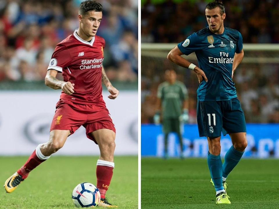 While Philippe Coutinho is refusing to play for Liverpool in the Champions League Gareth Bale could be on his way to Manchester United