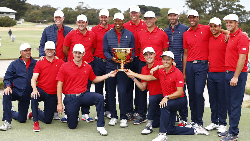 The United States team, pictured here celebrating after winning the Presidents Cup.