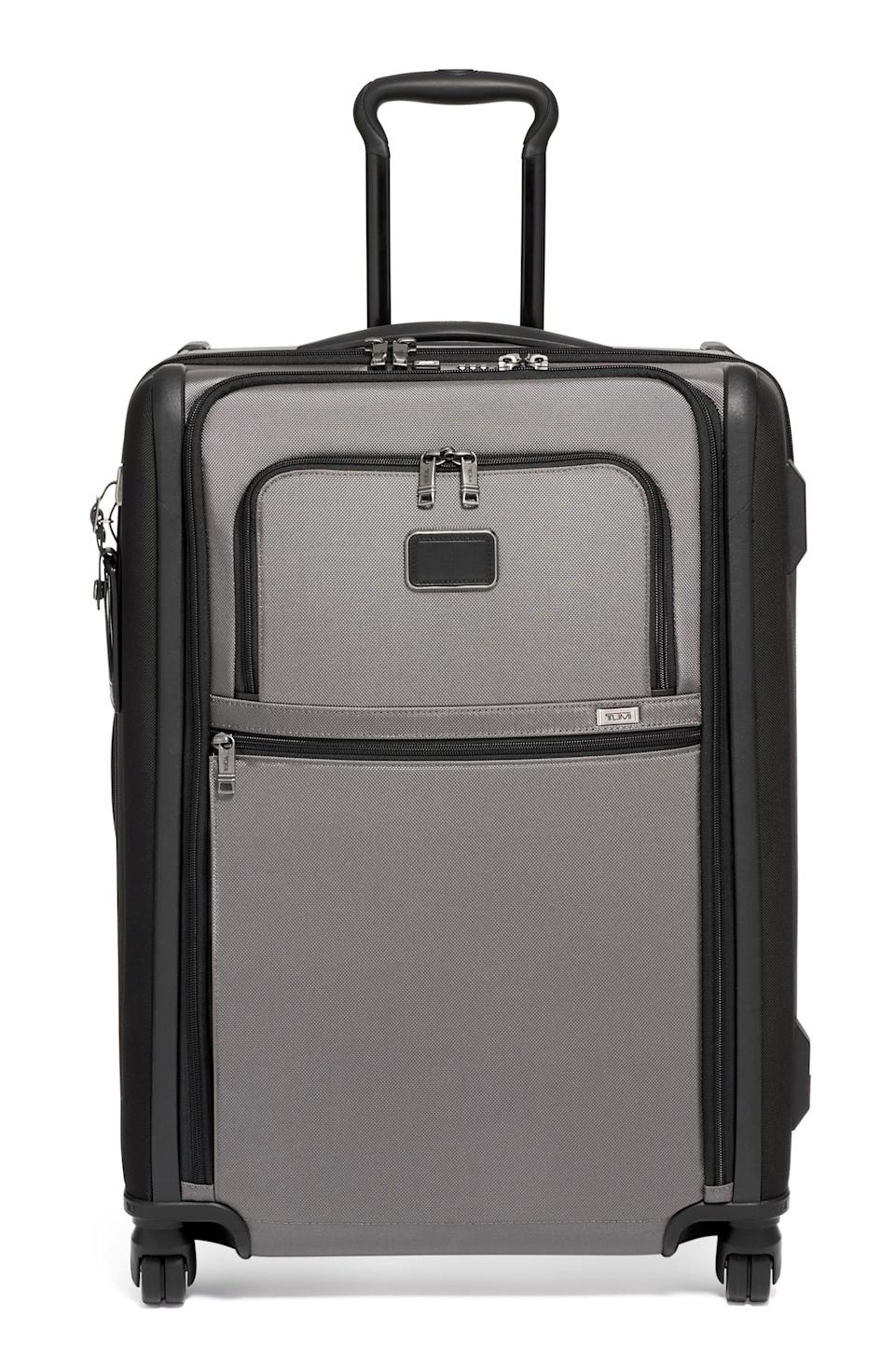"""<p><strong>TUMI</strong></p><p>nordstrom.com</p><p><strong>$595.90</strong></p><p><a href=""""https://go.redirectingat.com?id=74968X1596630&url=https%3A%2F%2Fwww.nordstrom.com%2Fs%2Ftumi-alpha-2-short-trip-rolling-four-wheel-packing-case%2F5594912&sref=https%3A%2F%2Fwww.veranda.com%2Fluxury-lifestyle%2Fg33484341%2Fnordstrom-anniversary-sale-2020%2F"""" rel=""""nofollow noopener"""" target=""""_blank"""" data-ylk=""""slk:Discover"""" class=""""link rapid-noclick-resp"""">Discover</a></p><p>This suitcase is just begging to be whisked away across the pond (as you likely are as well). This heavy-duty piece of luggage is still lightweight and easy to maneuver, with a three-stage telescoping handle system—perfect for running through the airport! </p>"""