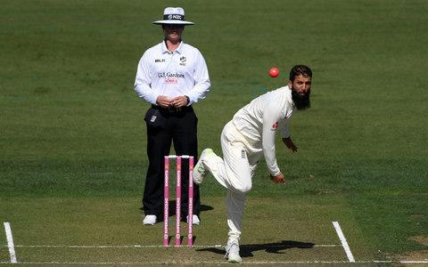 <span>Moeen bowls during a warm-up match in Hamilton this week</span> <span>Credit: Getty images </span>