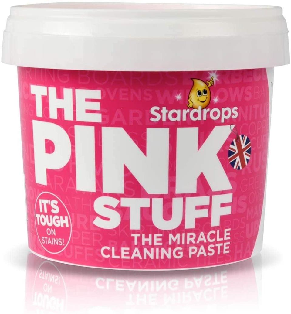 <p>The internet loves this <span>Stardrops The Pink Stuff The Miracle All Purpose Cleaning Paste</span> ($10). It can clean everything from tile to porcelain and more.</p>