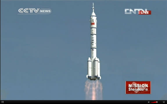 Shenzhou 10 marks China's fifth manned space mission.