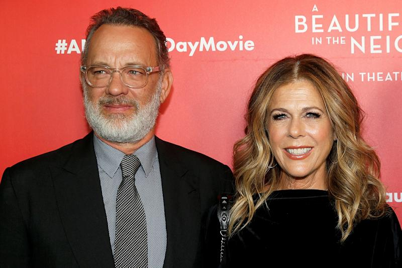 "NEW YORK, NEW YORK - NOVEMBER 17: Tom Hanks and Rita Wilson attend ""A Beautiful Day In The Neighborhood"" New York Screening at Henry R. Luce Auditorium at Brookfield Place on November 17, 2019 in New York City. (Photo by Dominik Bindl/FilmMagic)"