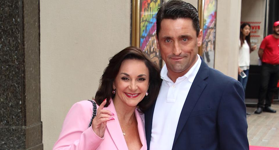 Shirley Ballas and Daniel Taylor attend the Joseph and the Amazing Technicolor Dreamcoat Press Night at the London Palladium. (Photo by Keith Mayhew/SOPA Images/LightRocket via Getty Images)