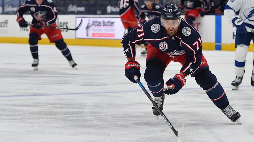 Nick Foligno will start his Maple Leafs career on the top line. (Photo by Ben Jackson/NHLI via Getty Images)