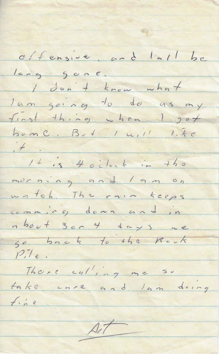 Letter from Arthur Bustamante / Credit: Center for American War Letters