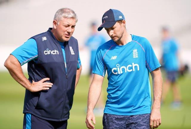 Chris Silverwood, left, and Joe Root, right, have indicated they will not put pressure on Ben Stokes to return (Martin Rickett/PA)