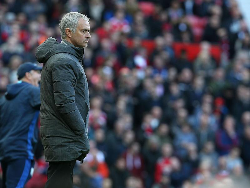 Mourinho was baffled by the BBC reporter's question whether he though the game had been even: Getty