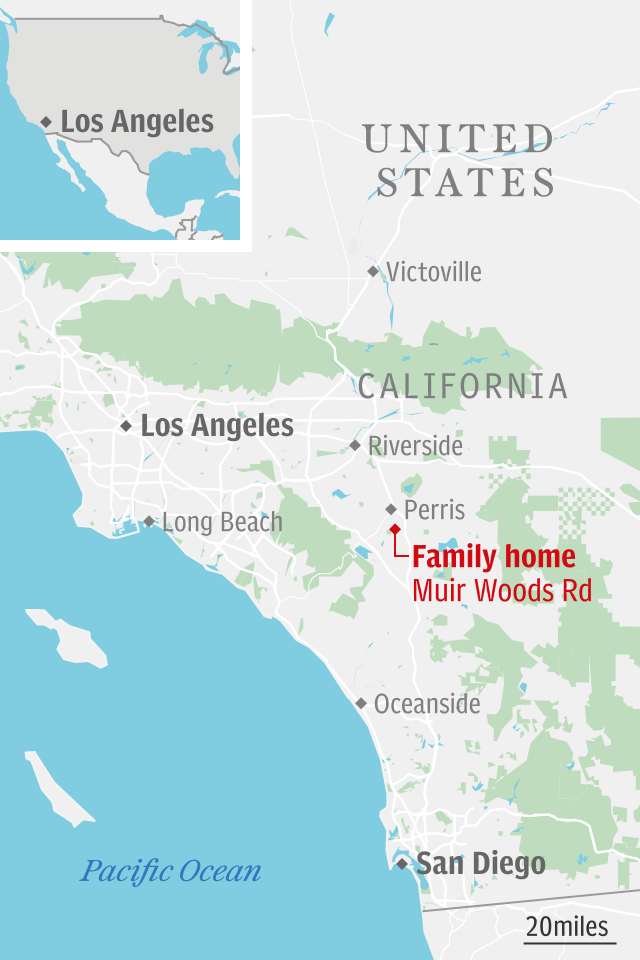 Turpin family house map