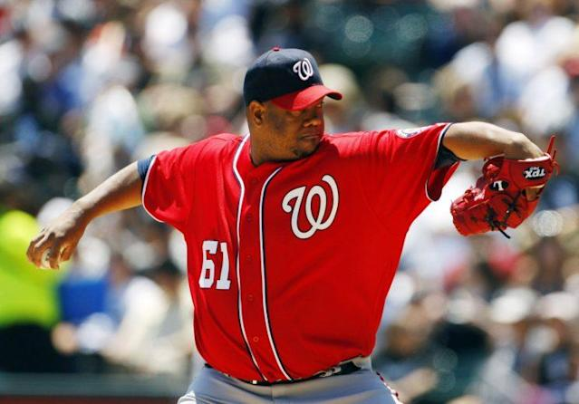 After earning over $53 million in his career, Livan Hernandez has filed for bankruptcy. (Getty)