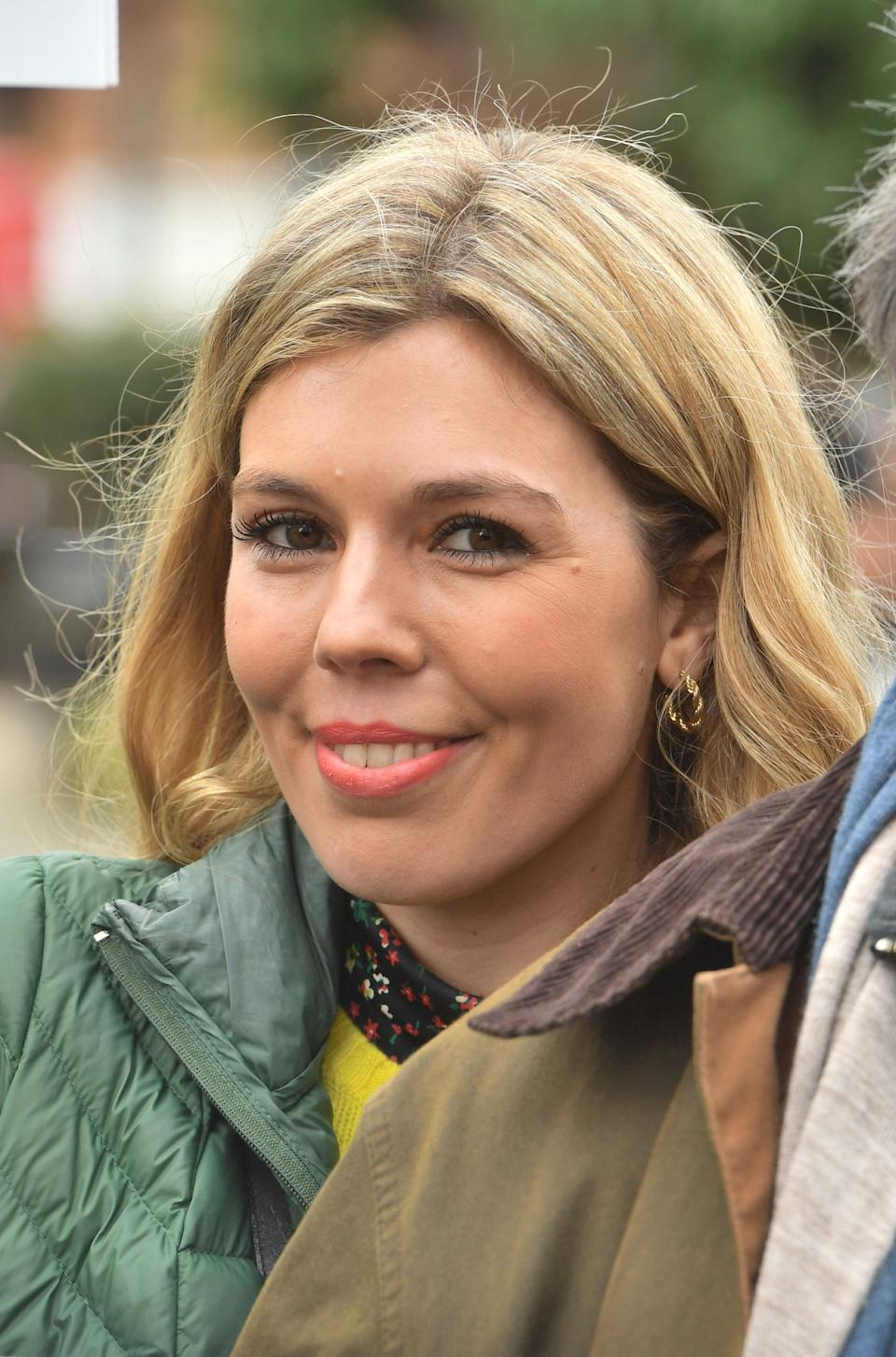 Activist Carrie Symonds takes part in an anti-whaling protest outside the Japanese Embassy in central London.