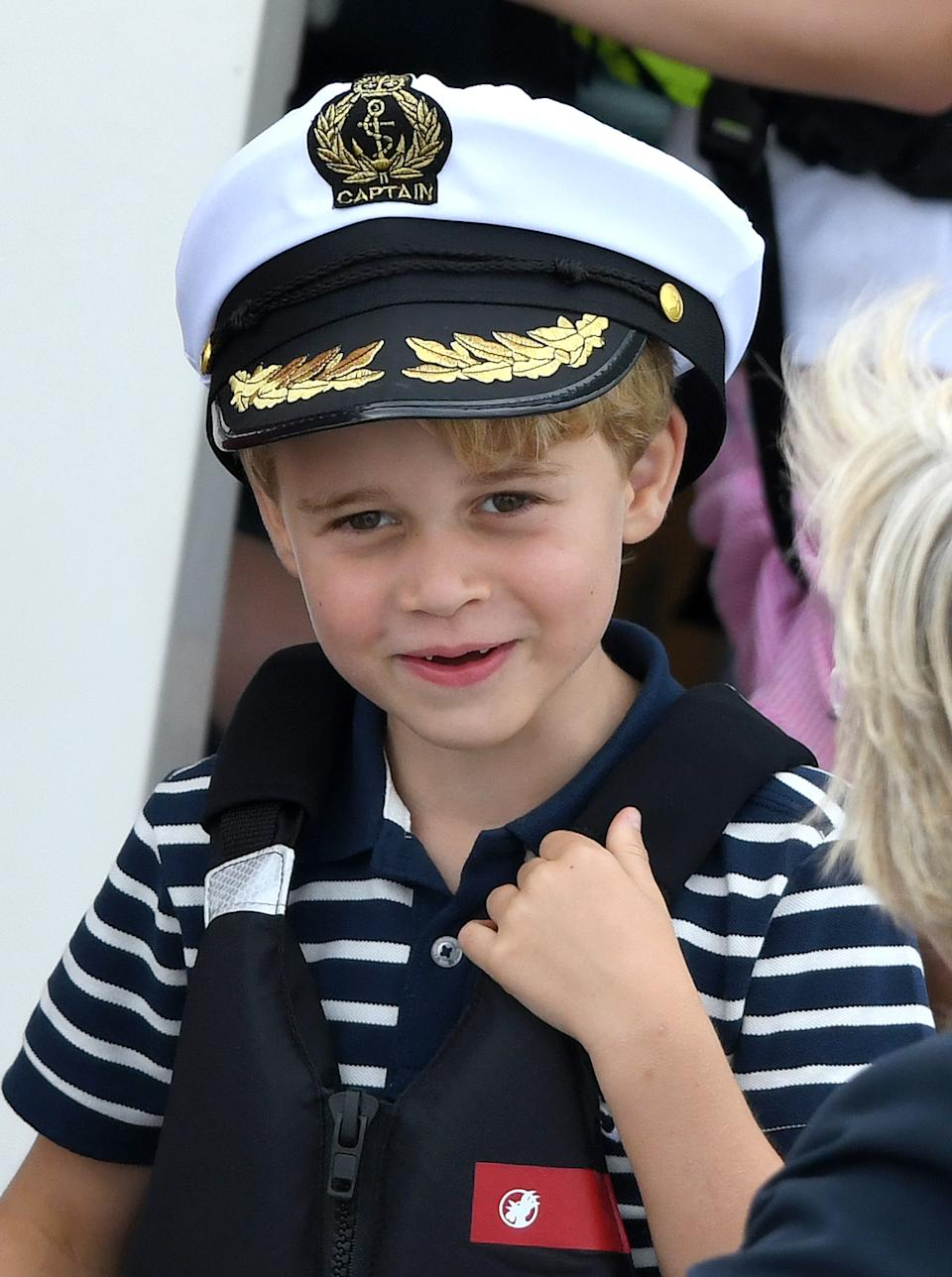 <p>Prince George at the King's Cup Regatta on 8 August 2019 in Cowes. He may have inherited his mother's love for sailing.(Karwai Tang/WireImage)</p>