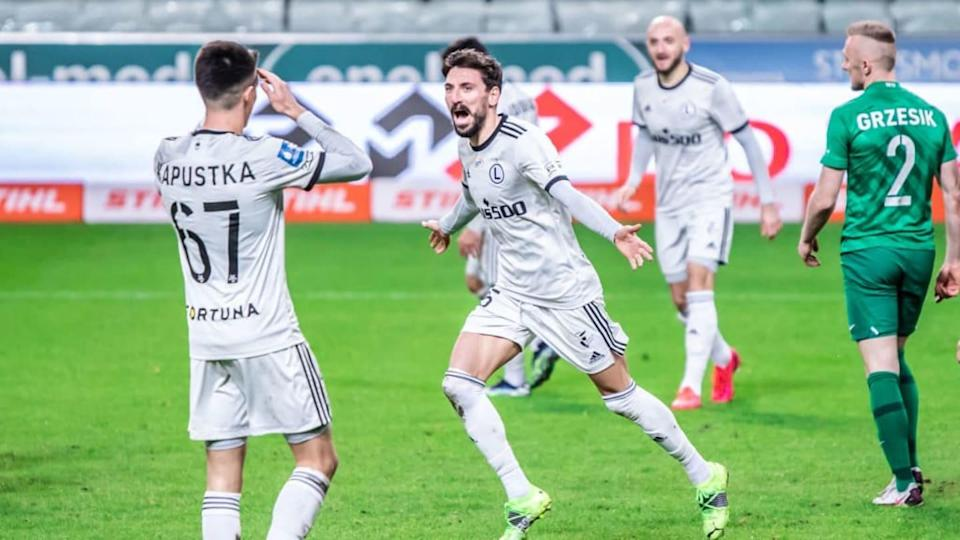Filip Mladenovic of Legia celebrates a goal during the... | SOPA Images/Getty Images