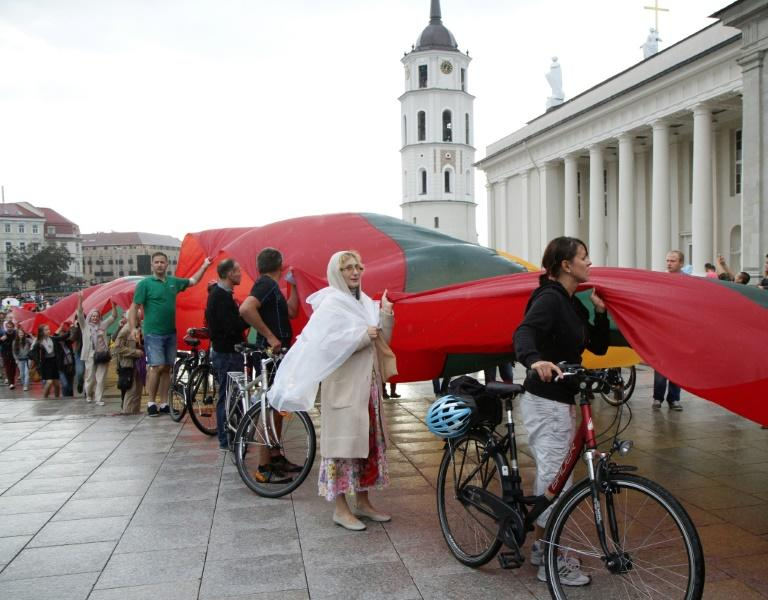 Lithuanians celebrate the 25th anniversary of the Baltic Way in 2014. In August 1989 the human chain helped the Baltic states win independence from the Soviet Union