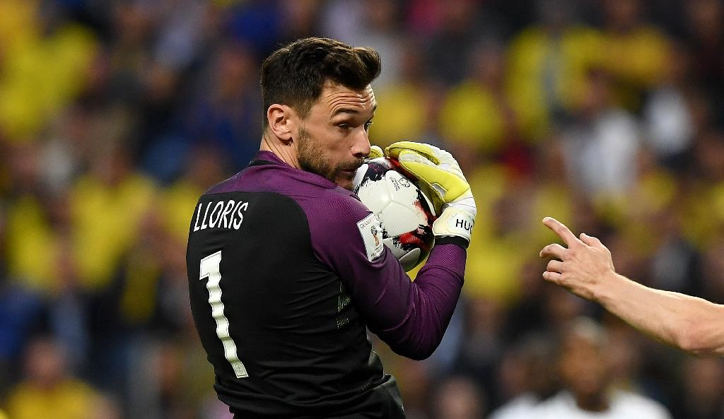 France's goalkeeper Hugo Lloris stops the ball during their FIFA World Cup 2018 qualifying match against Sweden, at the Friends Arena in Solna, on June 9, 2017 (AFP Photo/FRANCK FIFE)