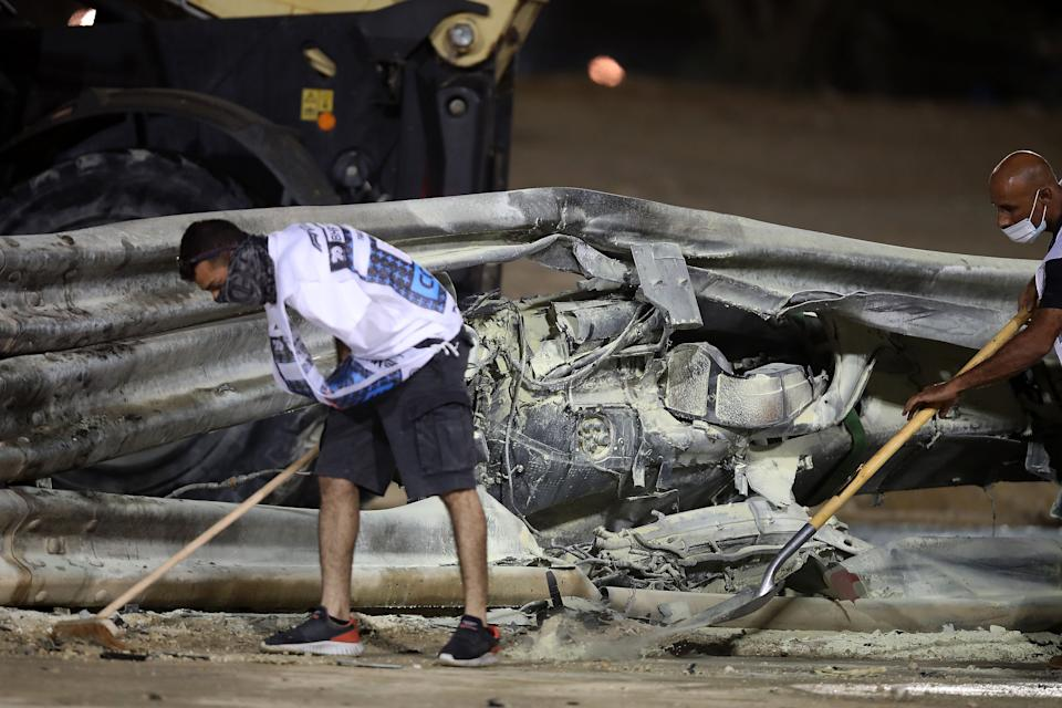 <p>The entire Armco barrier needed replacing after the accident</p>AFP via Getty