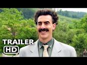 """<p>Fourteen years after becoming a household name, Sacha Baron Cohen's Khazakstani reporter Borat Sagdiyev returns to mock racist, misogynistic, anti-Semitic Americans in <em>Borat Subsequent Moviefilm</em>, the rare comedy sequel to equal the side-splitting hilarity of its predecessor. Ordered to restore his homeland's reputation (which he ruined with the first film) by gifting a famed monkey to Vice President Mike Pence, Borat winds up accompanied by <a href=""""https://www.esquire.com/entertainment/movies/a34437257/who-is-maria-bakalova-borat-daughter/"""" rel=""""nofollow noopener"""" target=""""_blank"""" data-ylk=""""slk:his stowaway 15-year-old daughter Tutar (Maria Bakalova)"""" class=""""link rapid-noclick-resp"""">his stowaway 15-year-old daughter Tutar (Maria Bakalova)</a> on another cross-country odyssey that entails making pit-stops at stores, debutante balls and white nationalist rallies (where he leads sing-alongs that reveal the hatred of those in attendance). Courtesy of a phenomenal Cohen and Bakalova, Borat and Tutar's sour-to-sweet relationship provides a sturdy backbone for a series of politicized hidden-camera gags in which the foreigners' unacceptable behavior coaxes real people to expose themselves as bigots and sexists. Utilizing a variety of disguises to mask his (fictional) identity – because everyone, by now, recognizes him on-sight – Borat reaffirms his status as cinema's clown prince of pranksterism, culminating with a Rudy Giuliani interview that has to be seen to be believed.</p><p><a class=""""link rapid-noclick-resp"""" href=""""https://www.amazon.com/Borat-Subsequent-Moviefilm-Sacha-Baron/dp/B08K3SDZJ9?tag=syn-yahoo-20&ascsubtag=%5Bartid%7C10054.g.29500577%5Bsrc%7Cyahoo-us"""" rel=""""nofollow noopener"""" target=""""_blank"""" data-ylk=""""slk:Watch Now"""">Watch Now</a></p><p><a href=""""https://www.youtube.com/watch?v=JvPTCvUnNQA"""" rel=""""nofollow noopener"""" target=""""_blank"""" data-ylk=""""slk:See the original post on Youtube"""" class=""""link rapid-noclick-resp"""">See the original post on Youtube</a></p>"""