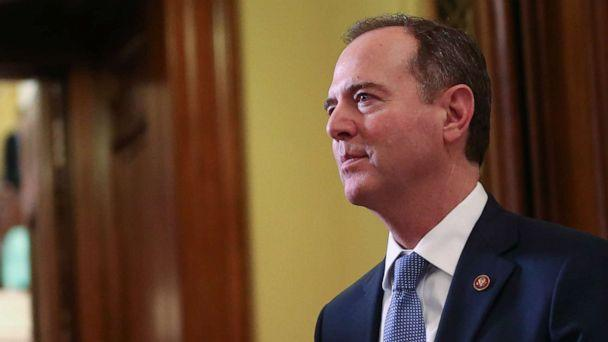 PHOTO: Adam Schiff departs the Senate chamber at the U.S. Capitol after the Senate impeachment trial of U.S. President Donald Trump concluded on February 5, 2020 in Washington, DC. (Mario Tama/Getty Images)