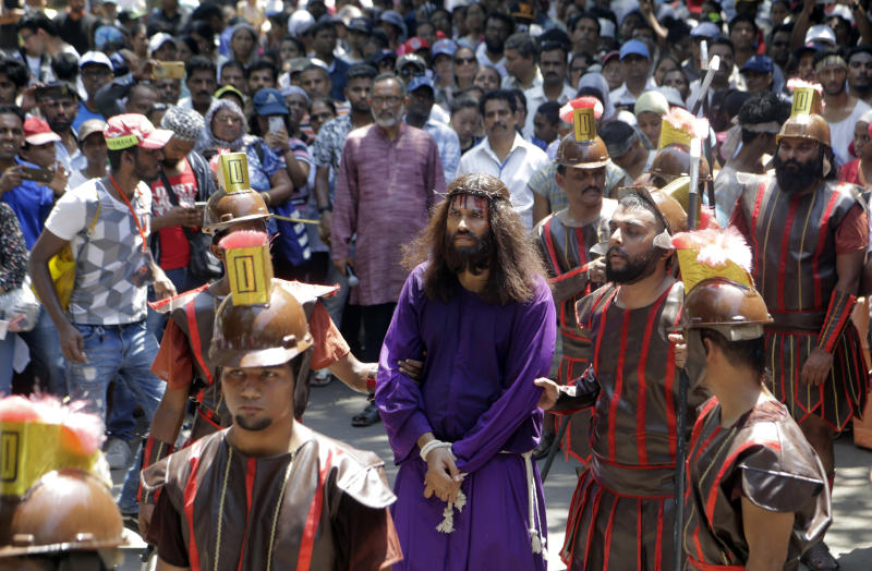 A man portrays Jesus in Mumbai, India, on April 19, 2019. (Rajanish Kakade / ASSOCIATED PRESS)