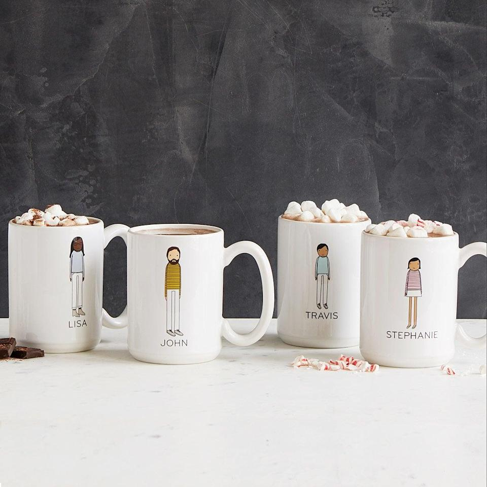 """<h2><a href=""""https://fave.co/3klvZss"""" rel=""""nofollow noopener"""" target=""""_blank"""" data-ylk=""""slk:Personalized Family Mugs"""" class=""""link rapid-noclick-resp"""">Personalized Family Mugs</a></h2><br>Imagine spending time with your family and friends by all sipping out of characterized mugs. The product honestly sells itself. <br><br><strong>Uncommon Goods</strong> Personalized Family Mugs, $, available at <a href=""""https://go.skimresources.com/?id=30283X879131&url=https%3A%2F%2Ffave.co%2F3klvZss"""" rel=""""nofollow noopener"""" target=""""_blank"""" data-ylk=""""slk:Uncommon Goods"""" class=""""link rapid-noclick-resp"""">Uncommon Goods</a>"""