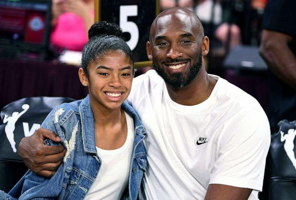 PHOTO: Kobe Bryant is pictured with his daughter Gianna at the WNBA All Star Game at Mandalay Bay Events Center, July 27, 2019, in Las Vegas. (USA TODAY Sports via Reuters, FILE)
