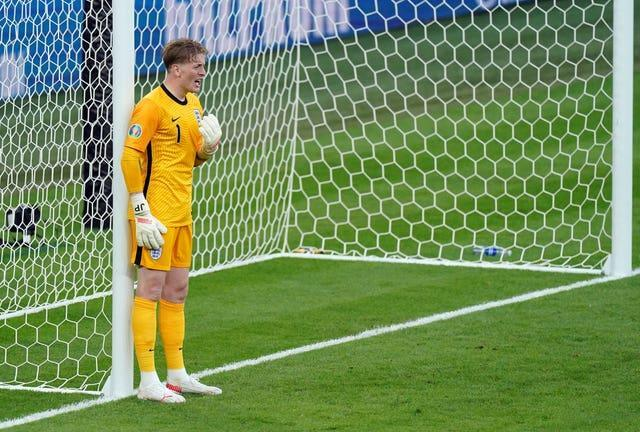 Jordan Pickford passed a new England record for minutes without conceding during the tournament