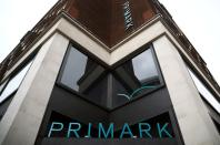 Signage is displayed outside a Primark store at the Oxford Street, in London