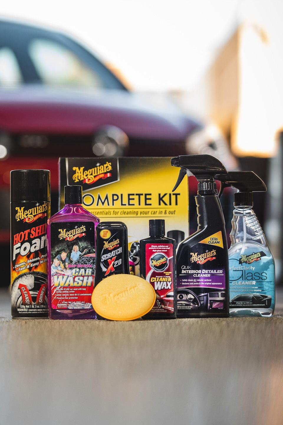 "<p><strong>Meguiar's</strong></p><p>walmart.com</p><p><strong>$23.88</strong></p><p><a href=""https://go.redirectingat.com?id=74968X1596630&url=https%3A%2F%2Fwww.walmart.com%2Fip%2F51575291&sref=https%3A%2F%2Fwww.caranddriver.com%2Fshopping-advice%2Fg34727934%2Fbest-car-gifts-teens%2F"" rel=""nofollow noopener"" target=""_blank"" data-ylk=""slk:Buy Now"" class=""link rapid-noclick-resp"">Buy Now</a></p><p>We wouldn't be surprised if your car-obsessed teen is also a total neat freak about his or her car—a lot of us Car and Driver editors are too! We'd recommend starting them out with this package of <a href=""https://www.caranddriver.com/shopping-advice/g25306083/meguiars-car-care-kits-sale/"" rel=""nofollow noopener"" target=""_blank"" data-ylk=""slk:car detailing essentials from Meguiar's"" class=""link rapid-noclick-resp"">car detailing essentials from Meguiar's</a>, which includes everything they need to shine up their ride.</p>"