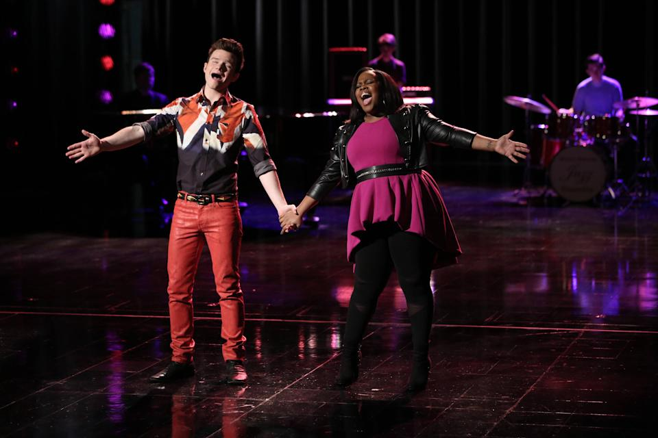 """<p><em>Glee</em> is a lot of things: splashy, fun, catchy…and, yes, annoying at times. But above everything, Ryan Murphy's magnum opus is heartfelt—like, nauseatingly so. From the authentic coming-out journey of Kurt (Chris Colfer) to powerhouse vocal performances by Mercedes (Amber Riley), watching <em>Glee</em> will make you cry. In fact, I'd argue you could choose episodes based on how much you want to feel your feels. Looking for a reasonable amount of tears? Try the one where Kurt's dad sticks up for his son when he's faced with a terrifying bully. For more tears than you can probably bear, choose the Finn tribute episode and let it <em>all</em> out. </p> <p><a href=""""https://www.netflix.com/title/70143843"""" rel=""""nofollow noopener"""" target=""""_blank"""" data-ylk=""""slk:Watch now on Netflix"""" class=""""link rapid-noclick-resp""""><em>Watch now on Netflix</em></a><em>.</em> </p>"""