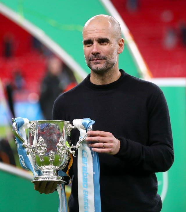 Guardiola is hoping to get his hands on the Carabao Cup for a fourth year in succession