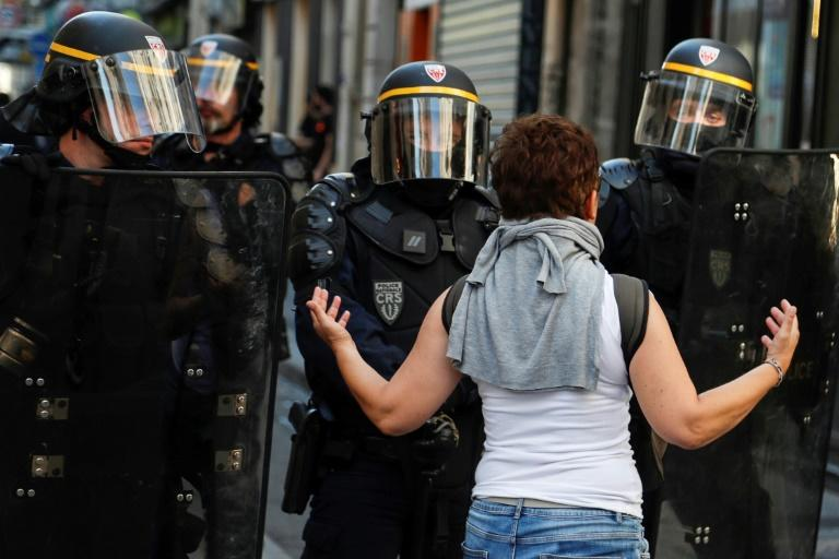 Some protesters have accused police of heavyhandedness (AFP Photo/Zakaria ABDELKAFI)