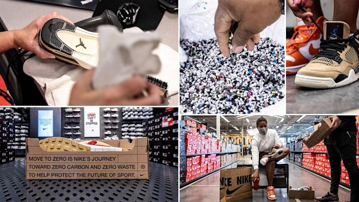Nike Refurbished will land at 15 stores by the end of April, the company said.