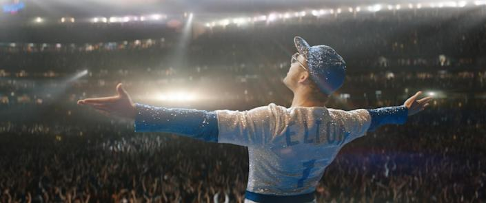 """Taron Egerton plays Elton John — an openly gay lead — in """"Rocketman"""" from Paramount Pictures. <span class=""""copyright"""">(Paramount Pictures)</span>"""